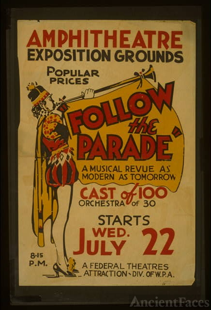"""Follow the parade"" [at the] Amphitheatre Exposition..."