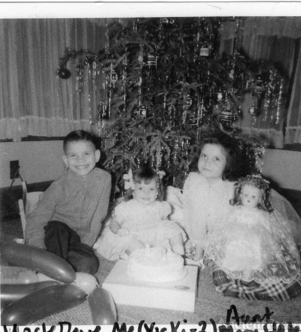 David, Catherine, & Mary Lane, 1958