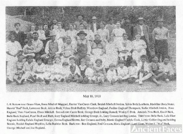 Beck Family Reunion Of 1918