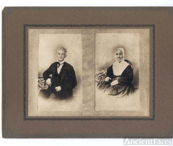 Unknown elderly couple