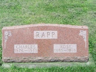Charles and Rose Rapp headstone
