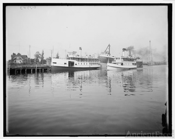 [Port Huron, Mich., along the Black River]