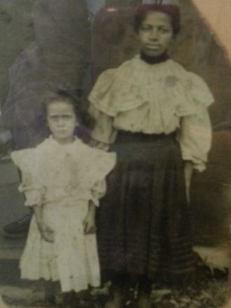 Unknown slave woman and child