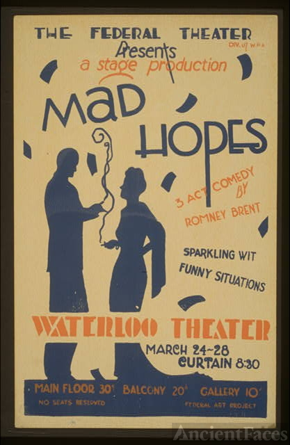The Federal Theater Div. of W.P.A. presents a stage...