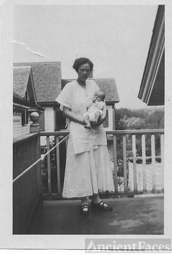 Rose Taylor and new baby