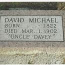 Tombstone of David Michael (1822 - March 1, 1902) In Bonner Springs, Kansas