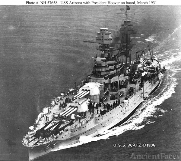 USS Arizona, 1931