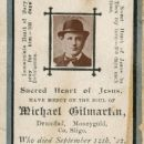 Michael Gilmartin Memorial Card, Ireland D:Sept.12,1922