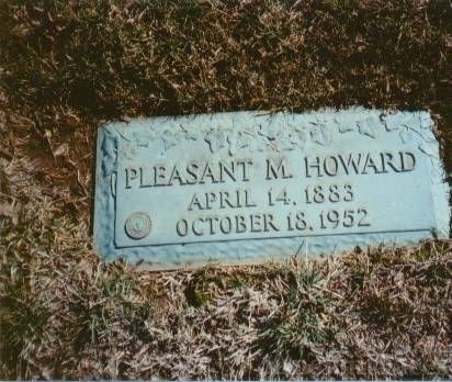 Pleasant Monroe Howard Gravestone