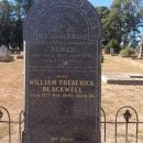 William Frederick Blackwell Gravestone