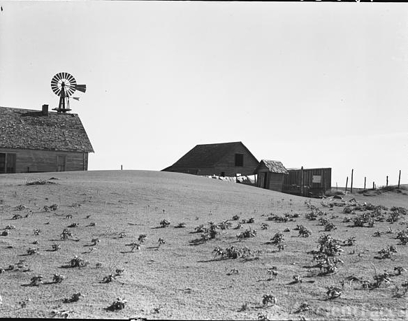 Dalhart Texas Farm, 1938 Dust Bowl