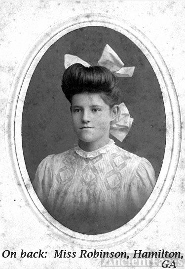 Girl with bows in hair in GA