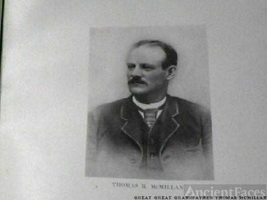 Great Great Grandfather Thomas McMillan, Pic taken out of a book from a church in Bridgeville, Pennsylvania