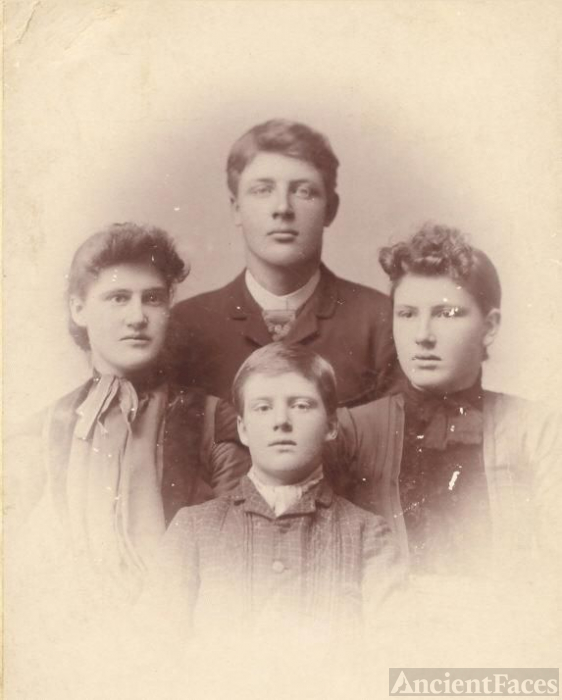 James Arthur, Emma, Mary, and Albert Grier