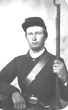 James Richard Bates in Civil War Uniform