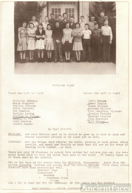 1944 Harrisburg IN High School Freshmen
