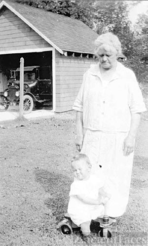 Petrina Johnsen with grandson Freddy (JR) Halkett