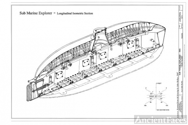 Longitudinal Isometric Section - Sub Marine Explorer,...