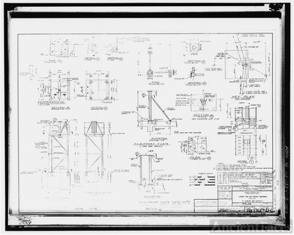250. Photocopy of drawing (1858 structural drawing by the...