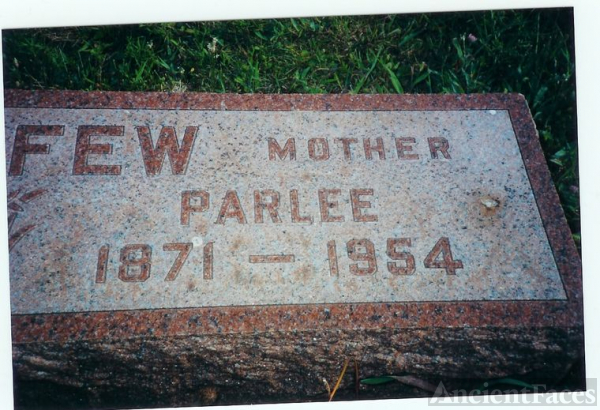 PARLEE LEFFEW GRAVE STONE
