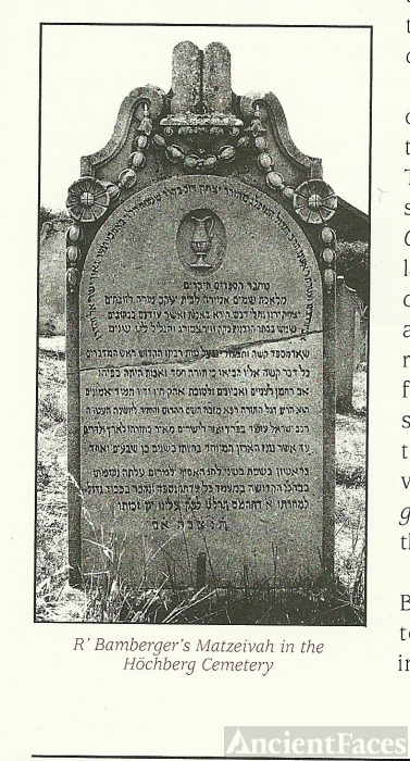 Bamberger's Matzeivah in the Hochberg Cemetery