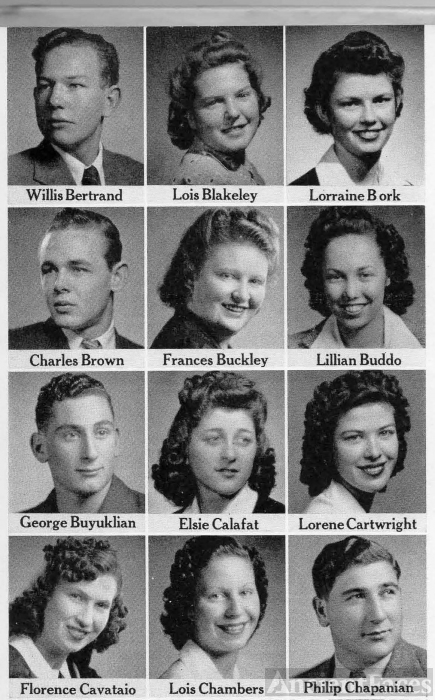 Willie Bertrand, Fresno Graduating Seniors 1942