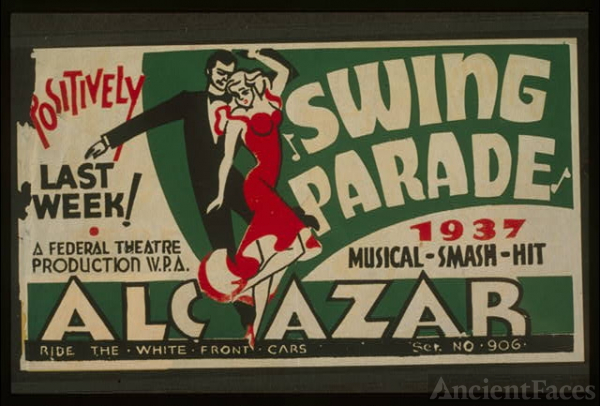 """Swing parade"" 1937 musical smash hit positively last week!"