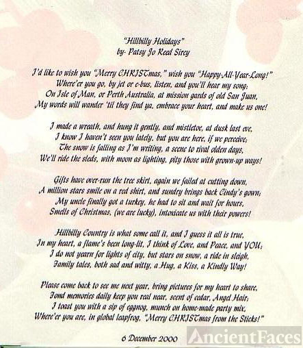 Hillbilly Holidays - poem