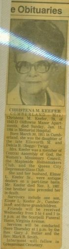 Christena (Twigg) Keefer