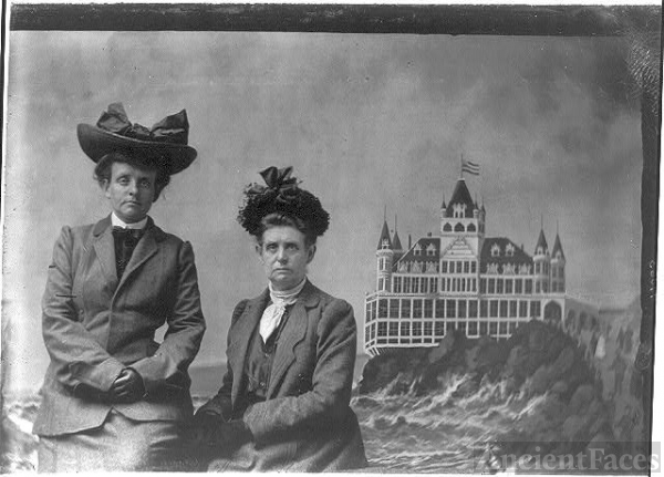 [Frances Benjamin Johnston, with Maddie, 1903 tintype at SF]