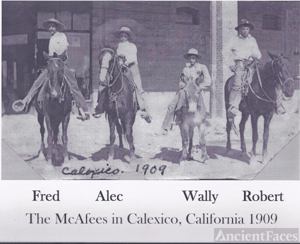 Fred McAfee & sons, 1909