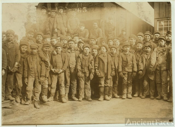 Breaker boys working in Ewen Breaker of Pennsylvania Coal...