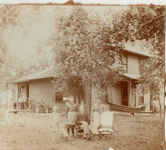 Rupert Family & Home, OH 1900