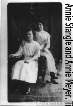 Annie Stangle and Annie Meyer