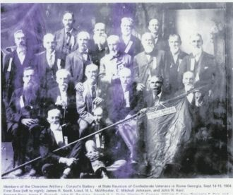 Members of the Cherokee Artillery
