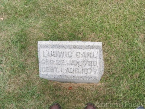 The Tombstone of Ludwig Carl (22 Jan 1790-1 Aug 1877))