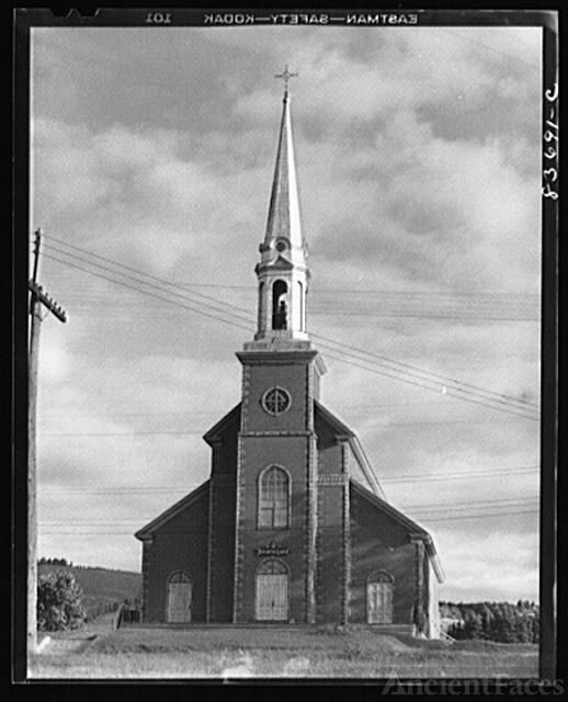 Fort Kent, Maine. (vicinity). Church in the parish where...