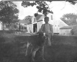 Eddie Ames at Bryant's Farm, 1927