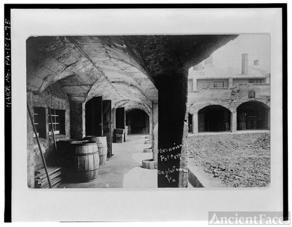 75. TILE WORKS COURTYARD, NORTH WING ARCADE, FROM WEST,...