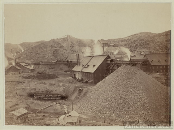 """Mills and mines."" Part of the great Homestake works,..."