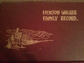 Emma (Walker) Munson Genealogy Record Cover