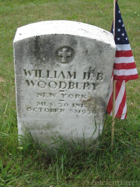 William H. B. Woodbury gravesite