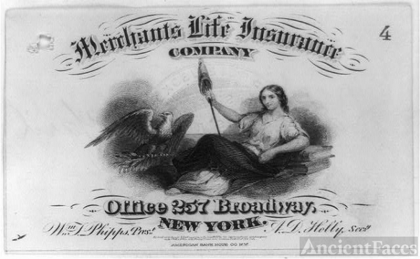 [Advertisement made for the Merchants Life Insurance Co....