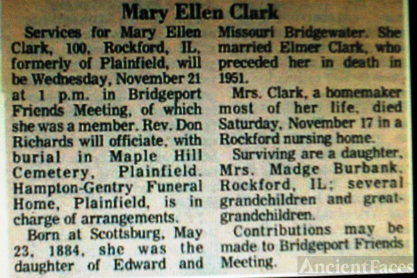 Mary Ellen Clark's Obituary