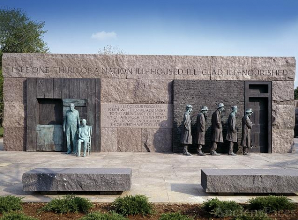 Depression breadline, F.D.R. Memorial, Washington, D.C.