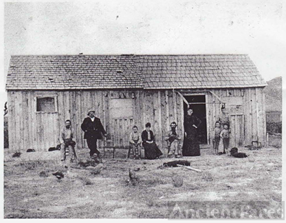 House on Martin Brownell Ranch in OK, 1891