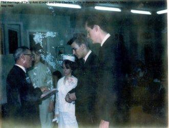 Wedding of Terry (Cook) and Elvin Tuttle, 1966