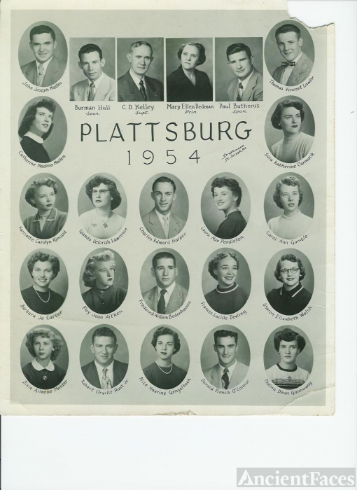 Plattsburg High School, Missouri, 1954