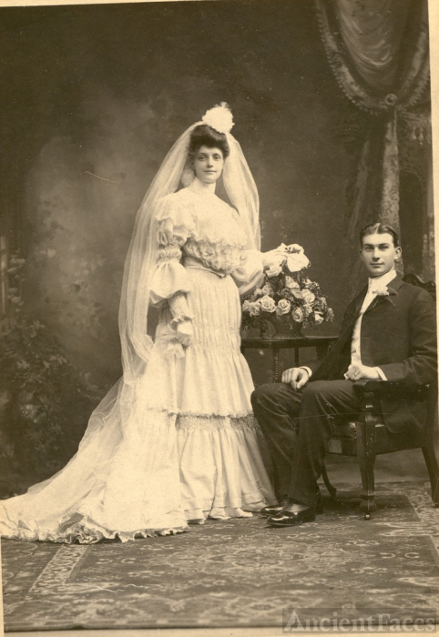 Gustave George Meyer & Emma Luise Wilhelmine Trebra wedding 1904