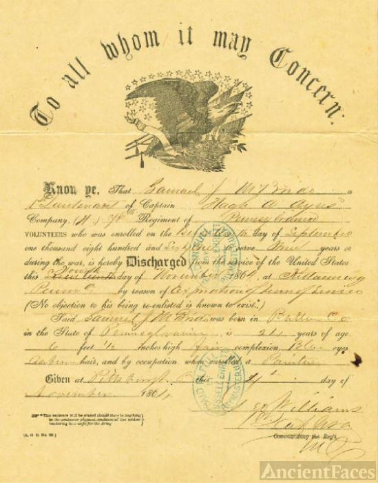 Civil War Discharge